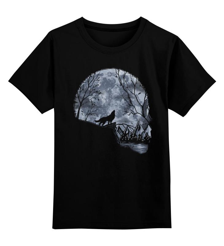 цена Детская футболка классическая унисекс Printio Лунный череп