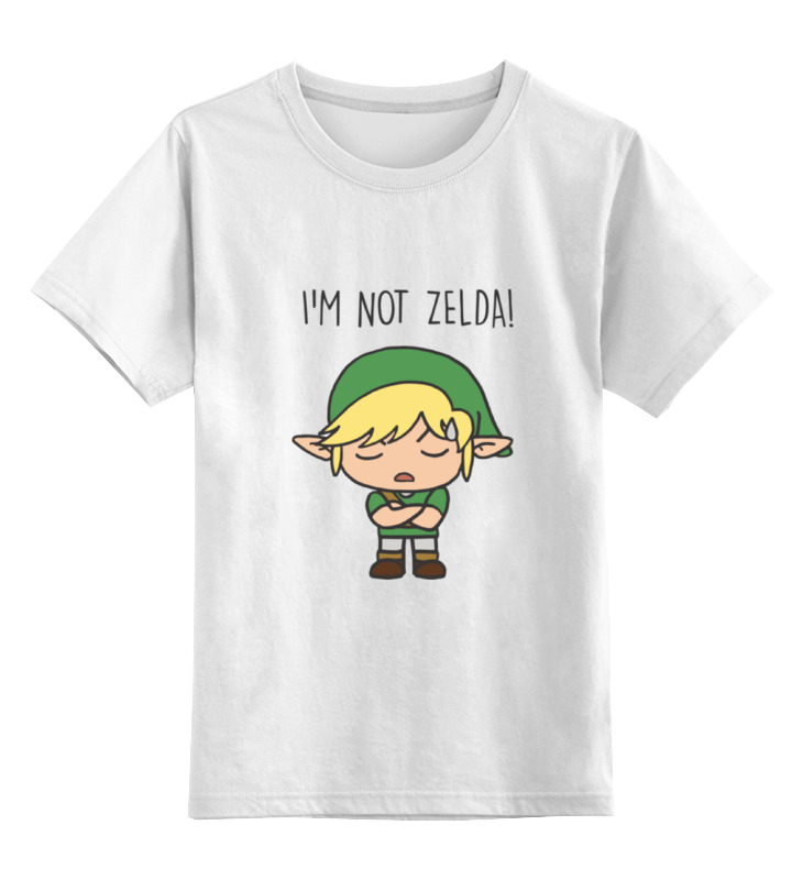 Детская футболка классическая унисекс Printio I'm not zelda! черепаха плетёная zelda