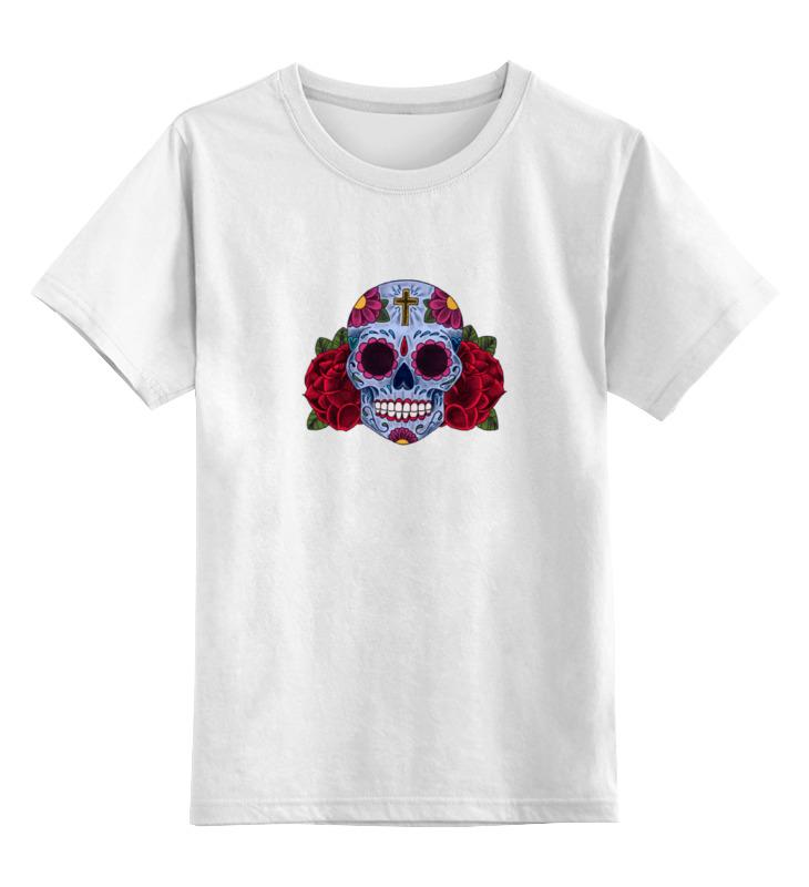 Детская футболка классическая унисекс Printio Мексиканский череп детская футболка классическая унисекс printio череп панка