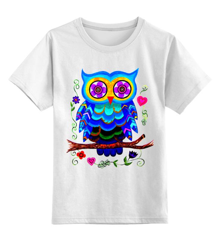 Детская футболка классическая унисекс Printio Очаровашка совенок.