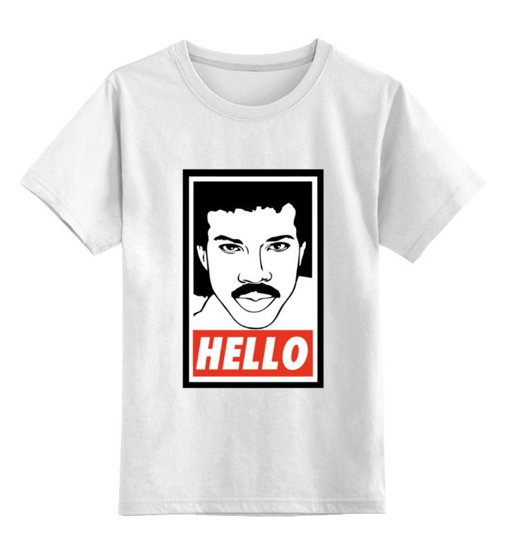 Детская футболка классическая унисекс Printio Лайонел ричи