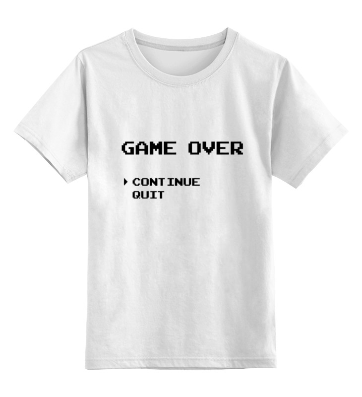 Детская футболка классическая унисекс Printio Game over (8-bit) майка классическая printio game over 8 bit