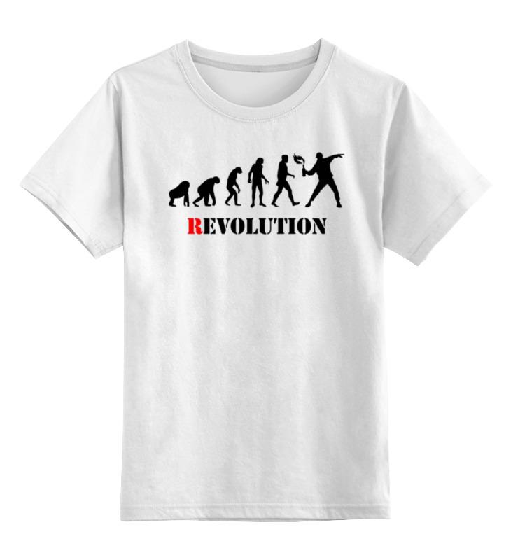 Детская футболка классическая унисекс Printio Evolution - revolution revolution or evolution