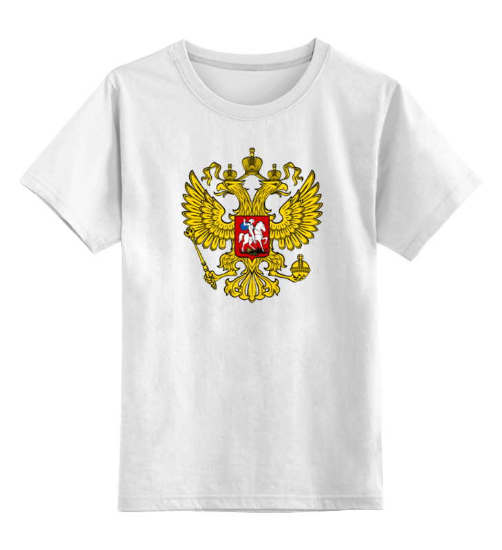 Детская футболка классическая унисекс Printio Russian federation