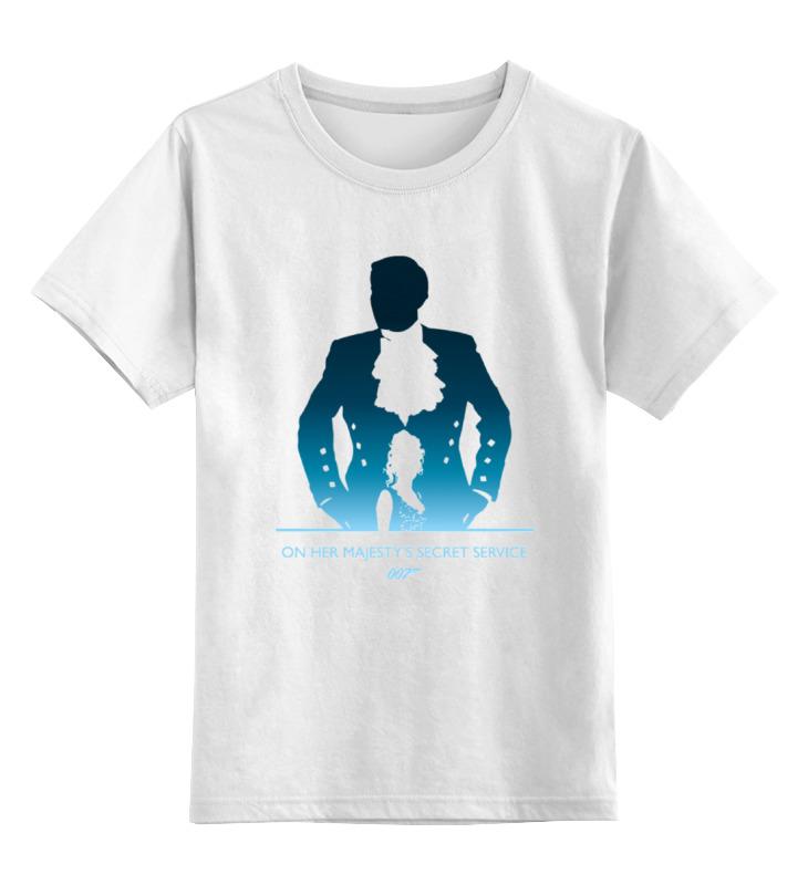 Детская футболка классическая унисекс Printio 007: на секретной службе её величества сумка printio гвардеец на службе
