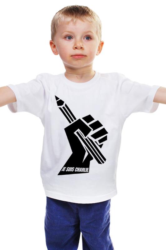 Детская футболка классическая унисекс Printio Je suis charlie, я шарли
