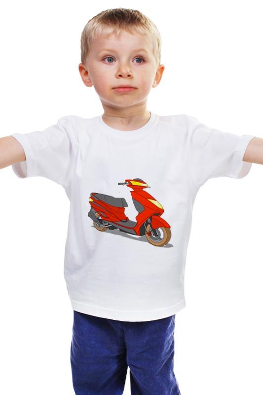 Детская футболка классическая унисекс Printio Мопед купить б у мопед 4 скоросный
