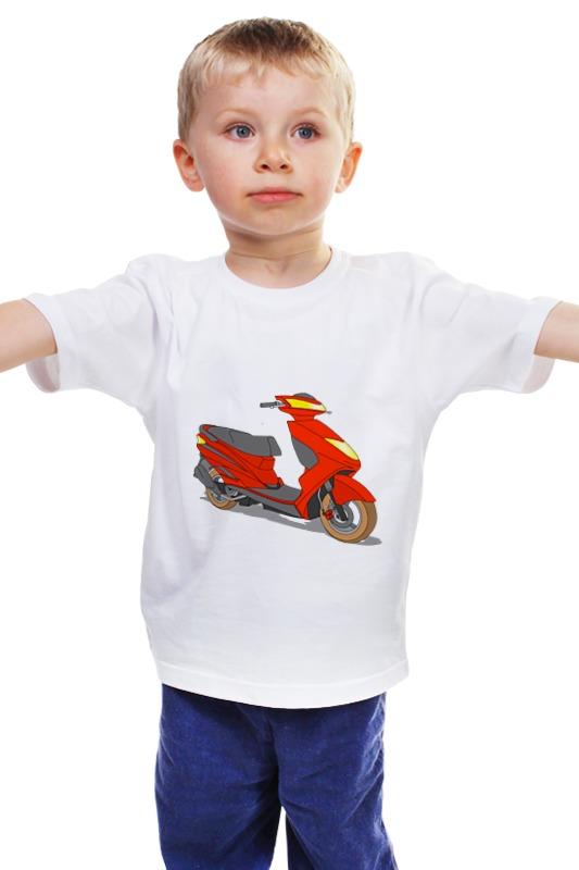 Детская футболка классическая унисекс Printio Мопед мопед
