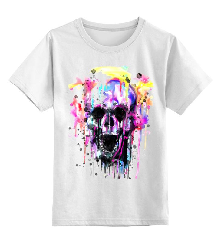 Детская футболка классическая унисекс Printio Череп (краски) ноутбук hp probook 450 g4 y7z98ea