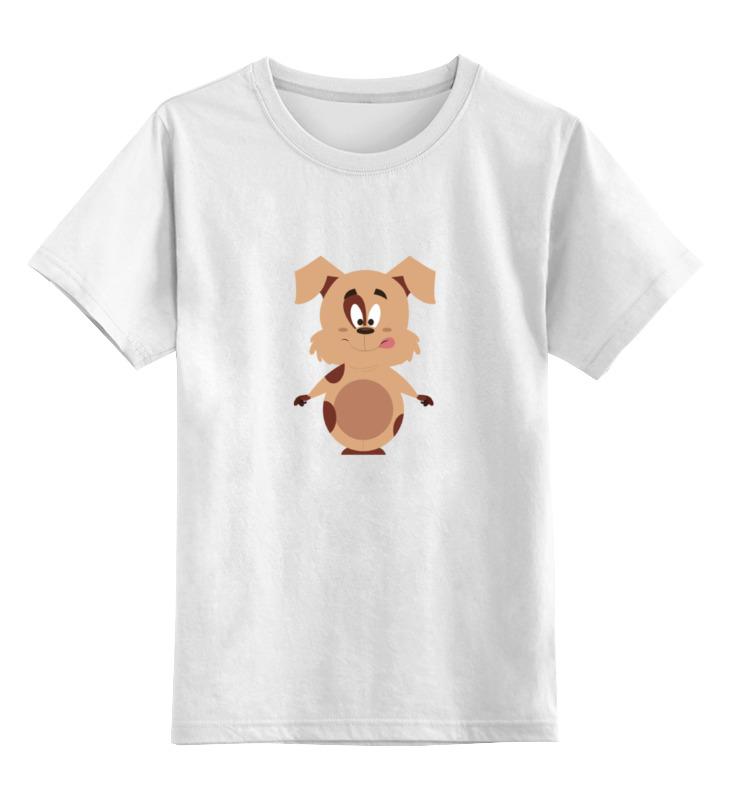 Детская футболка классическая унисекс Printio Весёлый щенок цена и фото