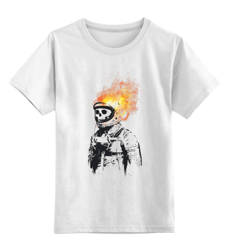 Детская футболка классическая унисекс Printio Портрет космонавта футболка классическая printio николай гоголь портрет работы фёдора моллера