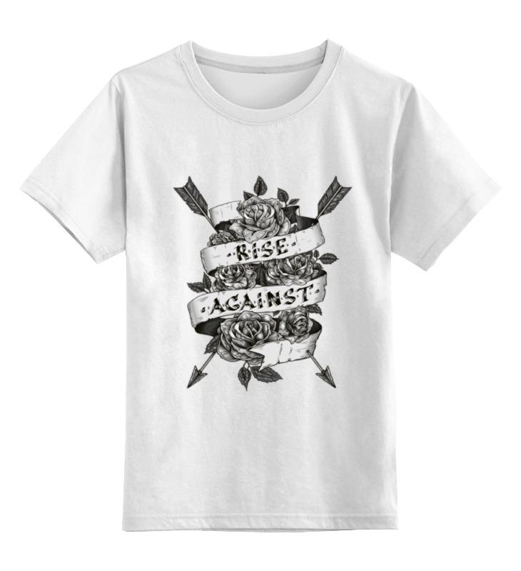 Детская футболка классическая унисекс Printio Rise against