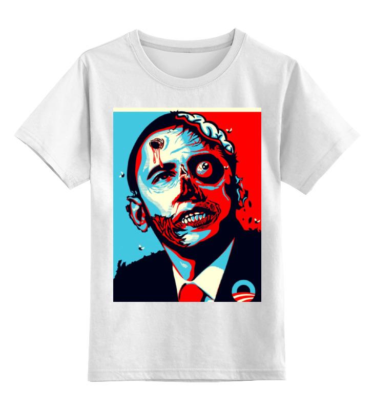 купить Детская футболка классическая унисекс Printio Обама по цене 967 рублей