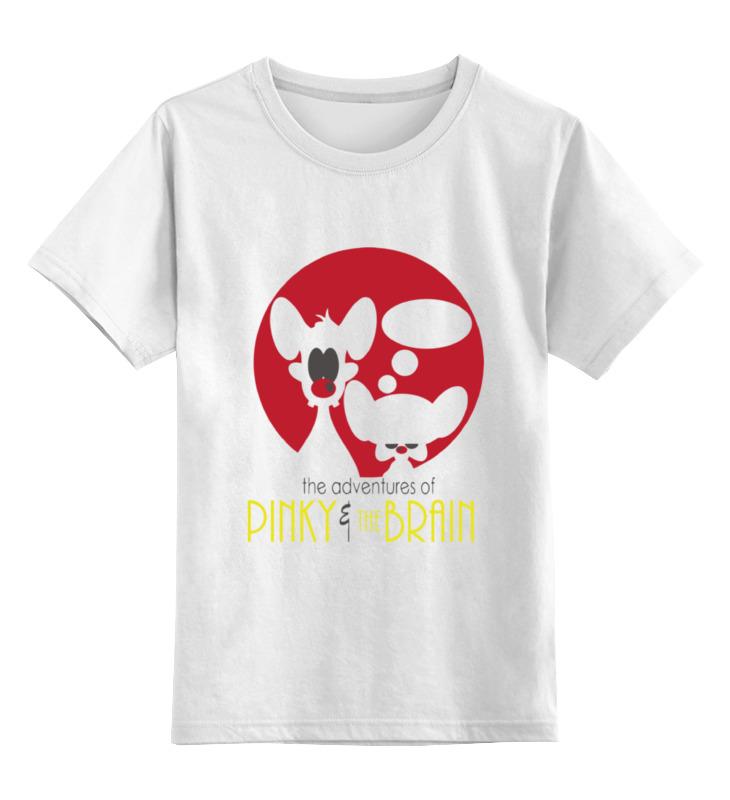 Детская футболка классическая унисекс Printio Pinky & brain
