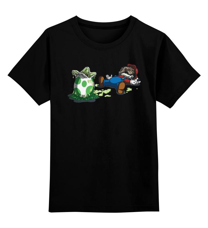 Детская футболка классическая унисекс Printio Mario and alien / марио и чужой лонгслив printio mario and alien марио и чужой