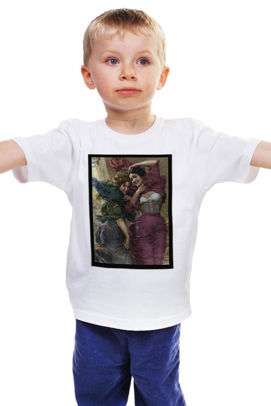 Детская футболка классическая унисекс Printio Ветер падение сквозь ветер