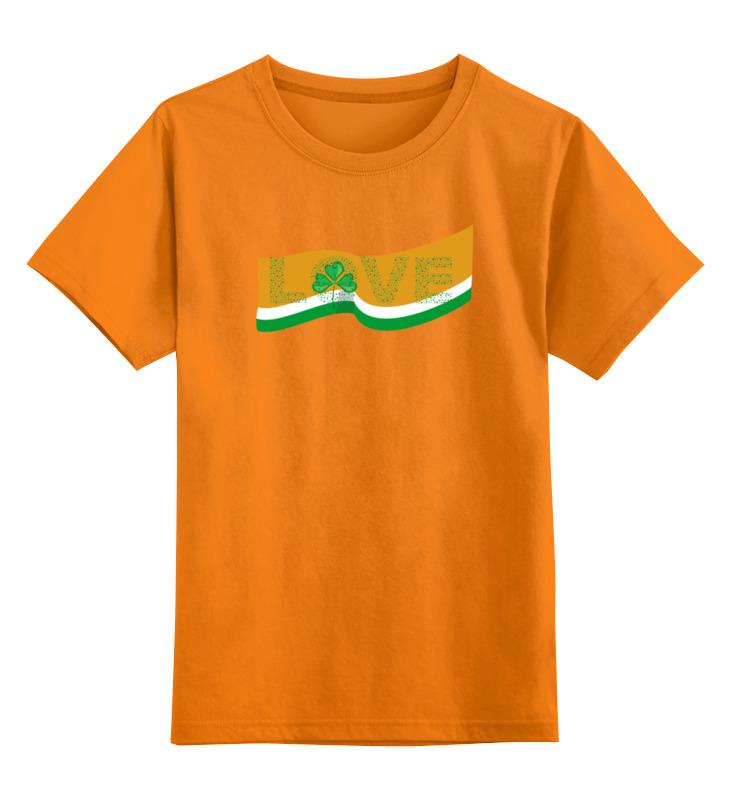 Детская футболка классическая унисекс Printio Love с ирландским флагом цена и фото