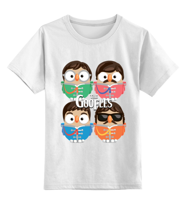 Детская футболка классическая унисекс Printio Сова битлз (the beatles) суперсова goofi цена