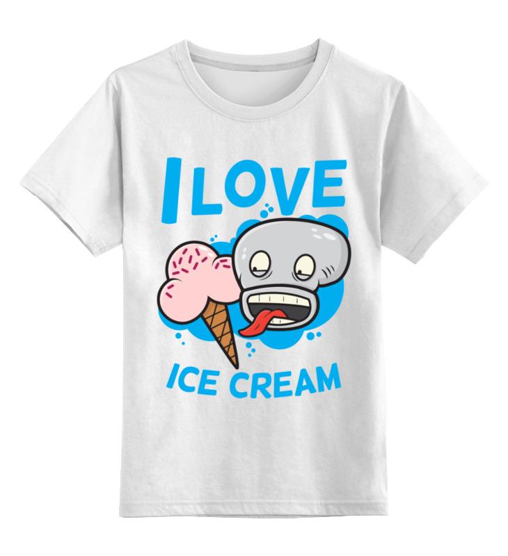 Детская футболка классическая унисекс Printio Я люблю мороженое цена и фото