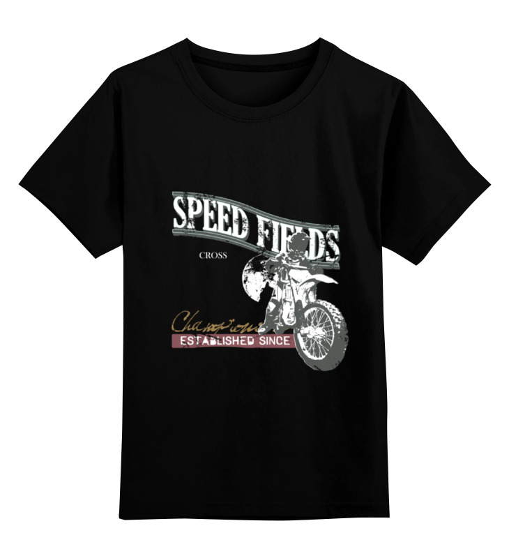 Детская футболка классическая унисекс Printio Мото...speed fields...