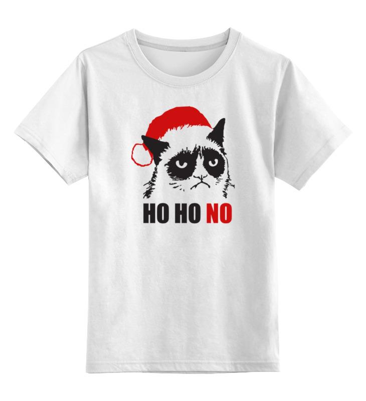 Детская футболка классическая унисекс Printio Сердитый котик (новый год) цена