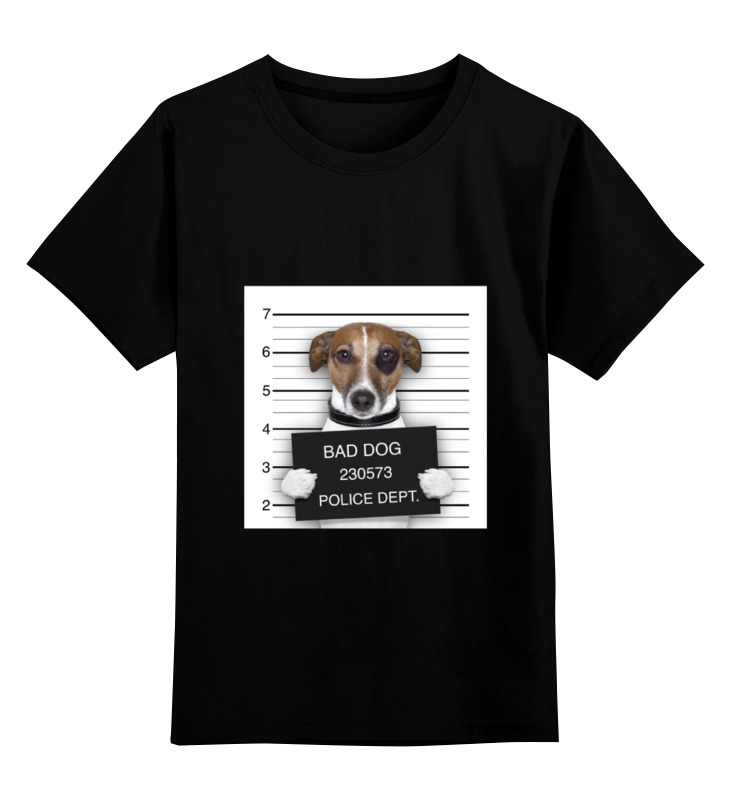 Детская футболка классическая унисекс Printio Bad dog (плохой пес) bad influence