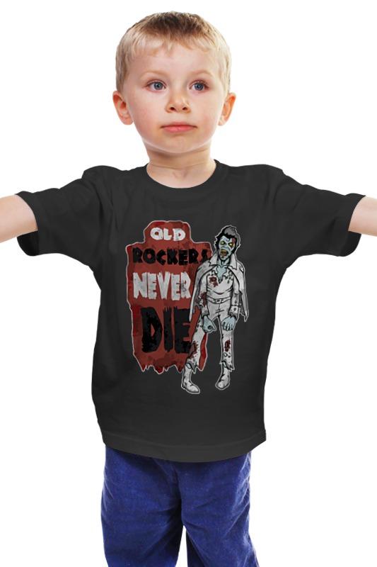 Детская футболка классическая унисекс Printio Зомби элвис (zombie elvis)