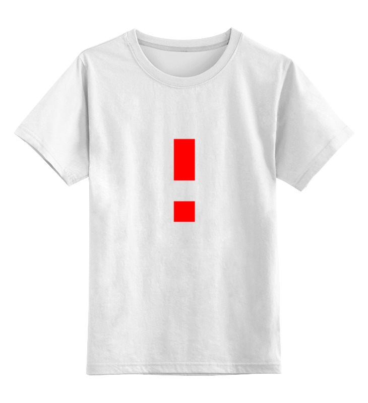Детская футболка классическая унисекс Printio Красный восклицательный знак smoby детская горка king size цвет красный