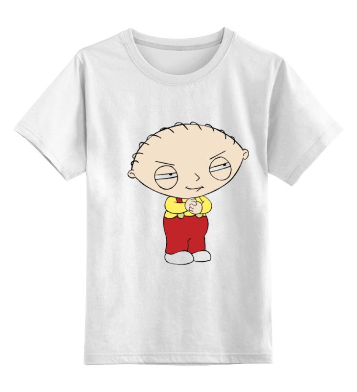 Детская футболка классическая унисекс Printio Stewie griffin griffin чехол книжка griffin универсальный 7 кожзам ткань красно коричневая