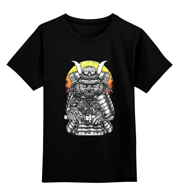 Детская футболка классическая унисекс Printio Owl samurai / сова самурай детская футболка классическая унисекс printio owl scull сова и череп