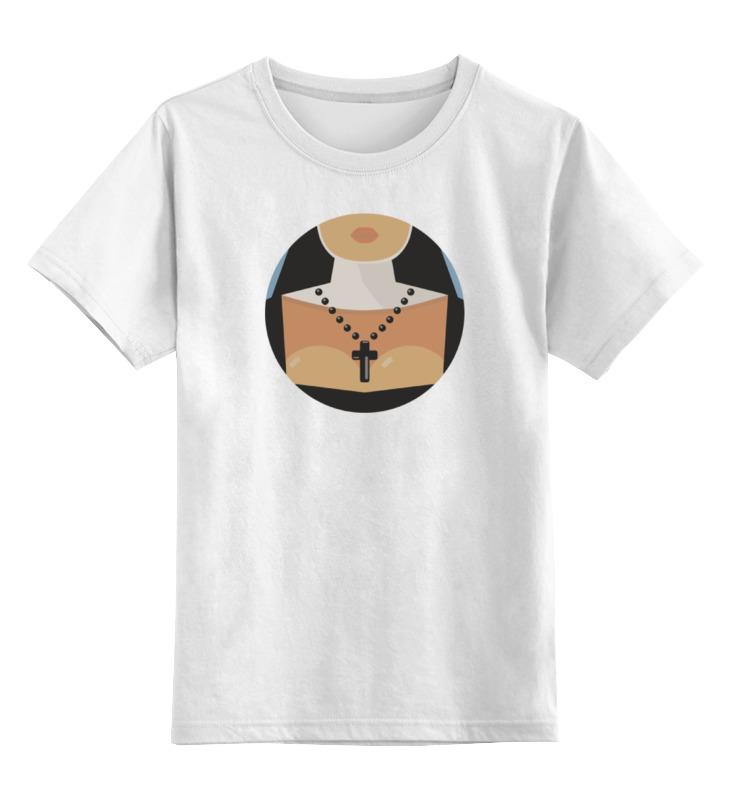 Детская футболка классическая унисекс Printio Монашка футболка классическая printio монашка молится букве t