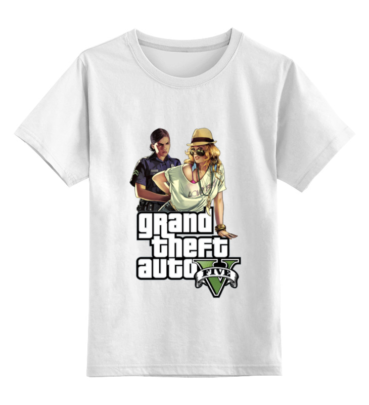 Детская футболка классическая унисекс Printio Gta v girls детская футболка классическая унисекс printio girls sidemount
