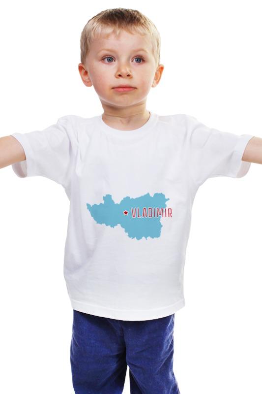 Детская футболка классическая унисекс Printio Владимирская область. владимир владимирская область лемешки дом