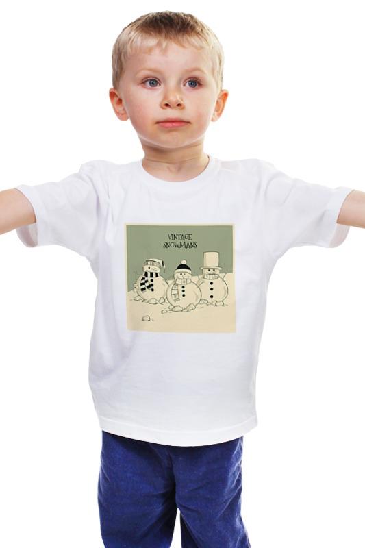 Детская футболка классическая унисекс Printio Снеговик детская футболка классическая унисекс printio мачете