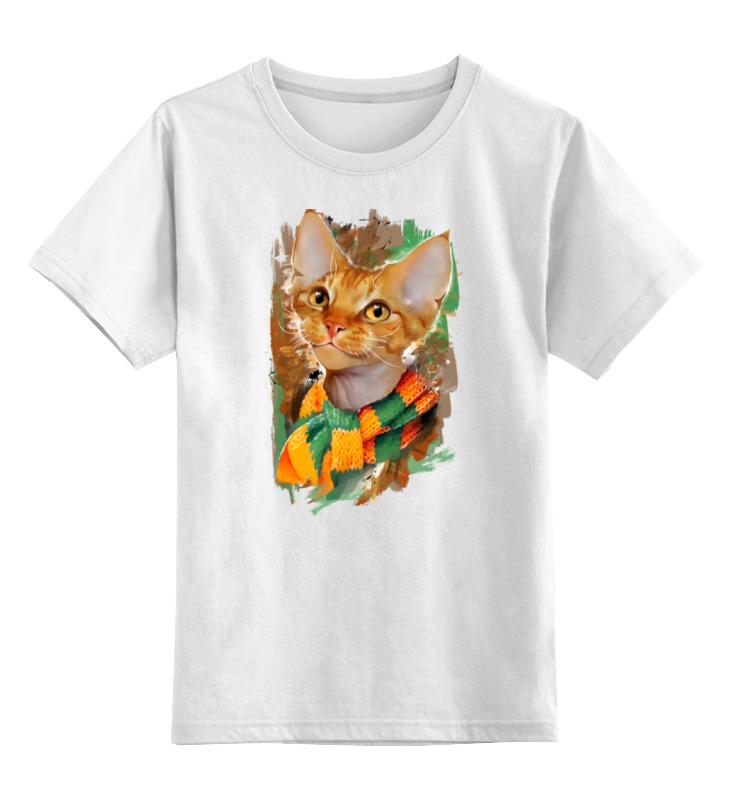 Детская футболка классическая унисекс Printio Кот хиппи майка классическая printio кот хиппи