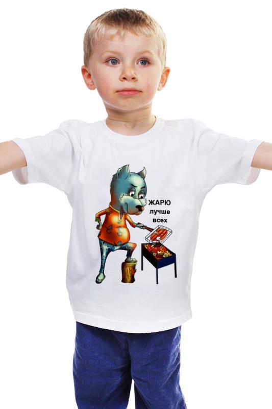 Детская футболка классическая унисекс Printio Жарю лучше всех чартер для всех