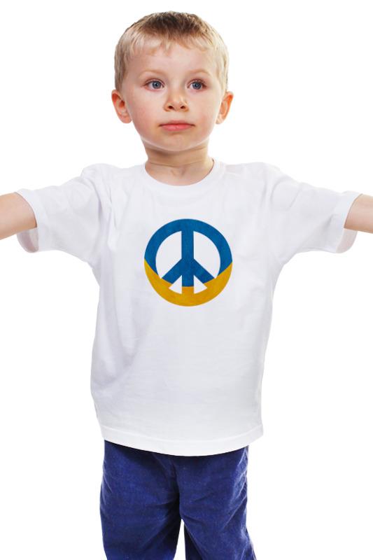 Детская футболка классическая унисекс Printio Ukraine peace