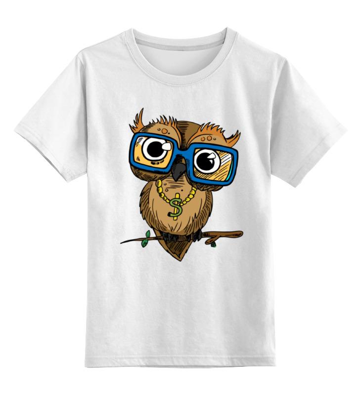 Детская футболка классическая унисекс Printio Деловая сова