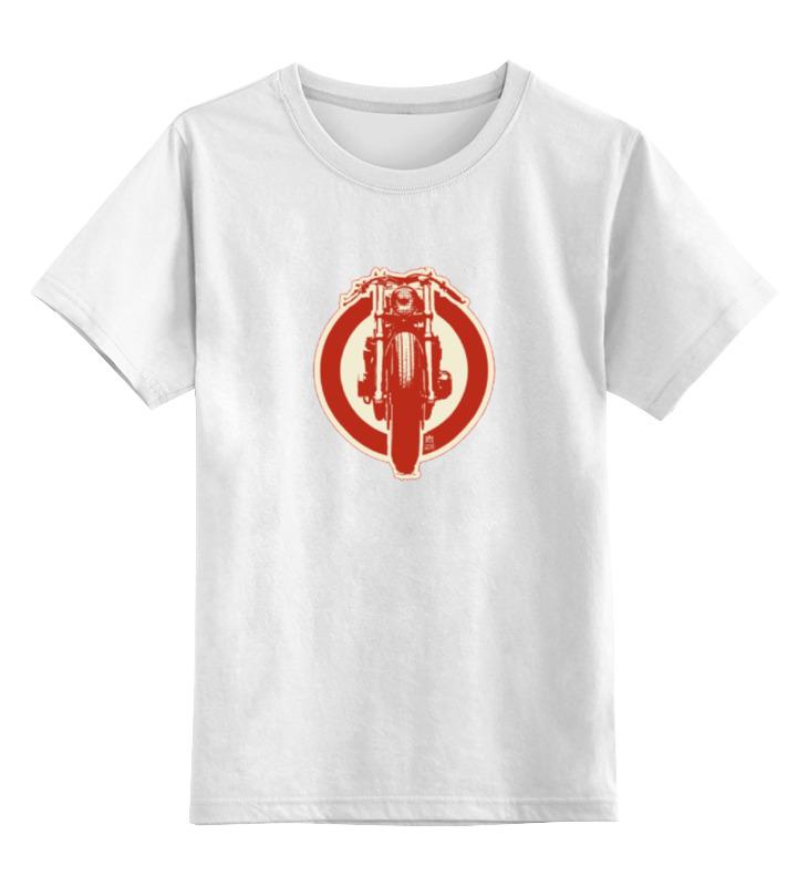 Детская футболка классическая унисекс Printio Moto retro cafe