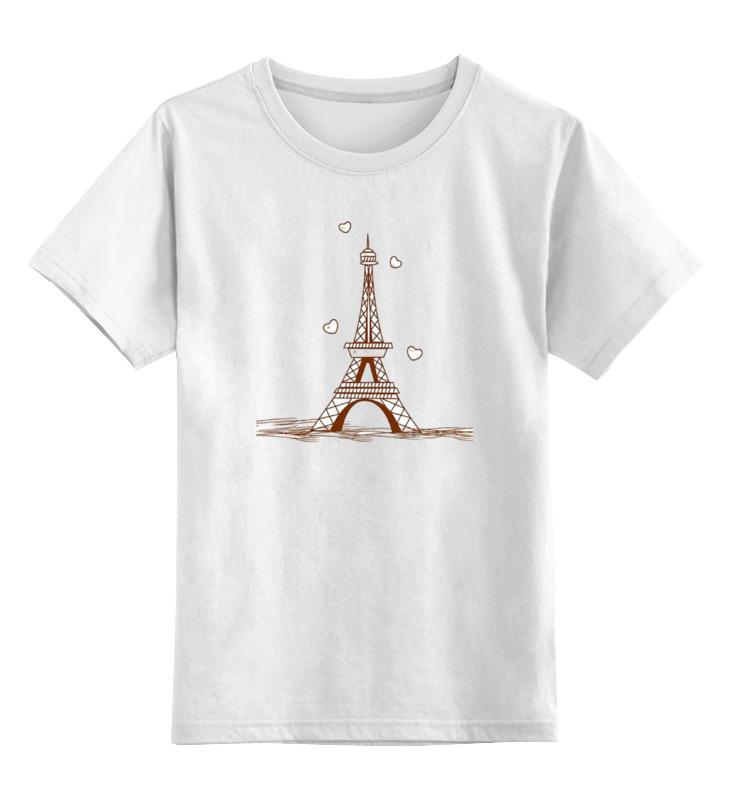 Детская футболка классическая унисекс Printio Эйфелева башня