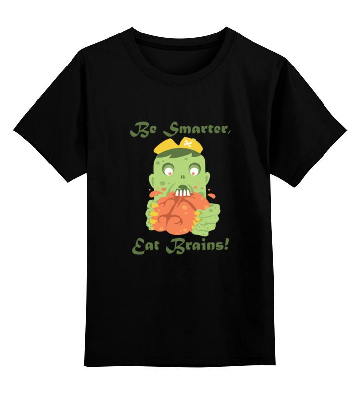 Фото - Детская футболка классическая унисекс Printio Будь умнее, ешь мозги! детская футболка классическая унисекс printio do nut eat me не ешь меня