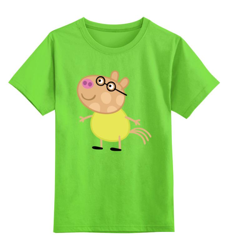 Детская футболка классическая унисекс Printio Peppa pig неваляшка папа свин peppa pig неваляшка папа свин