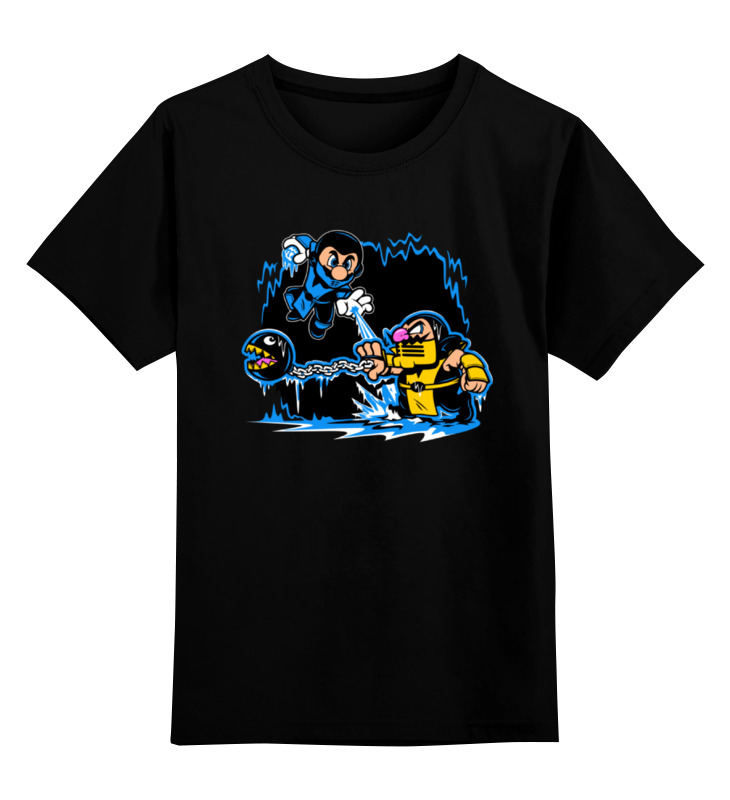 Детская футболка классическая унисекс Printio Марио х мортал комбат цена и фото