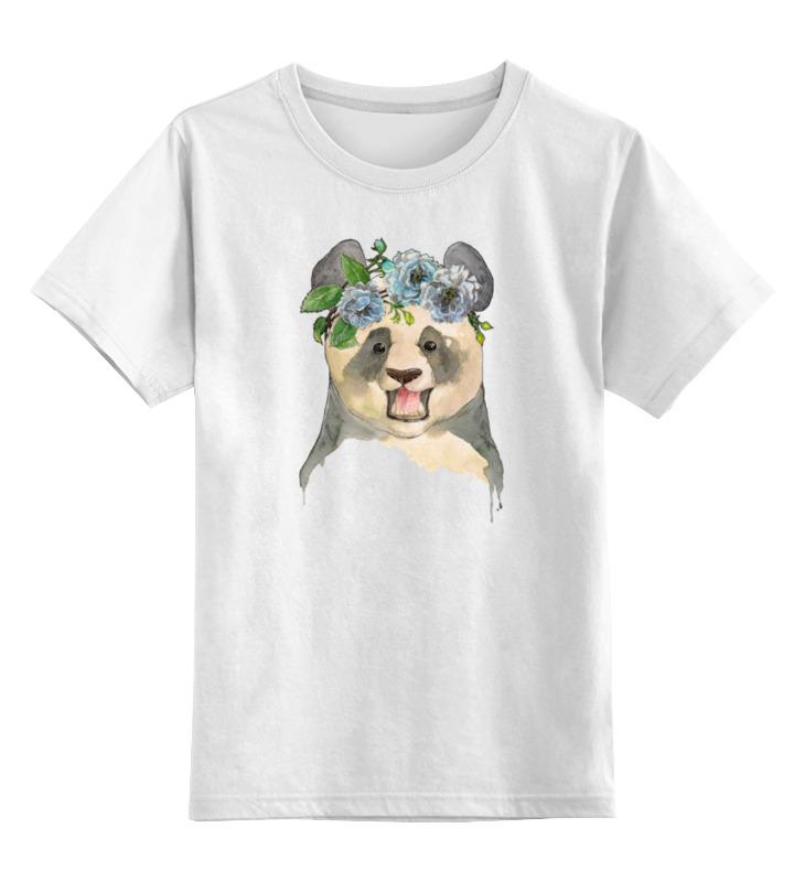 Детская футболка классическая унисекс Printio Панда в венке детская футболка классическая унисекс printio король панда