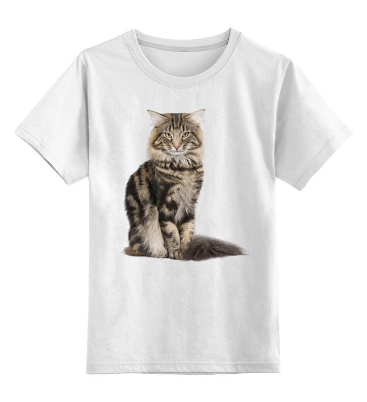 Детская футболка классическая унисекс Printio Милый пушистый кот куплю кота мейн кун полукровки за 1000 рублей в москве