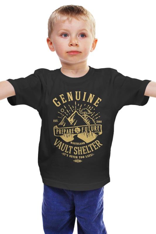 Детская футболка классическая унисекс Printio Fallout. vault shelter