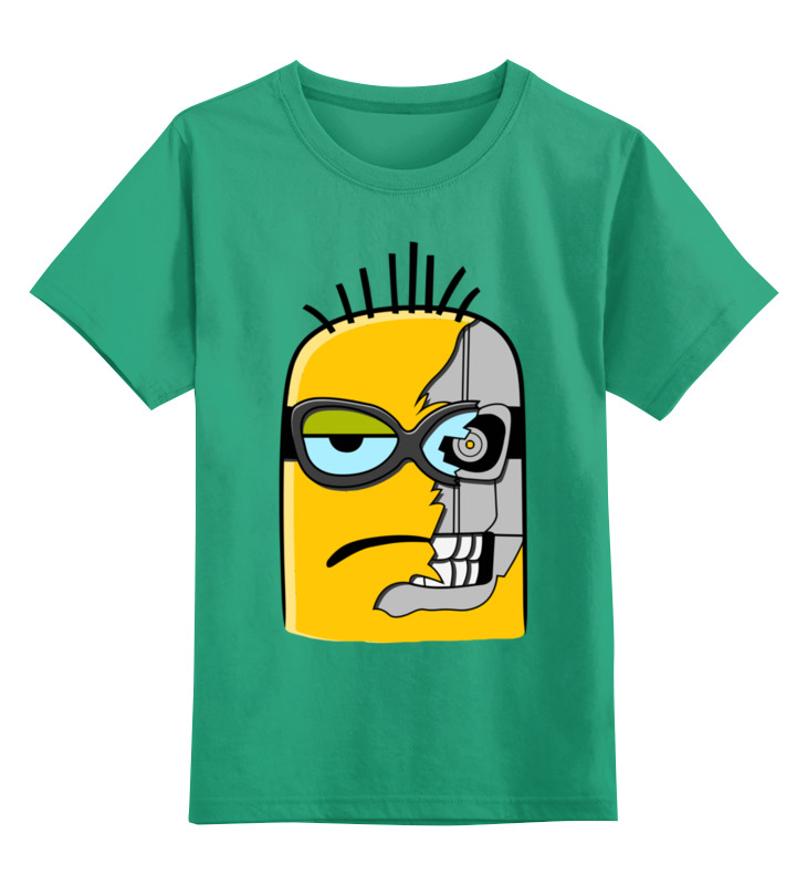 Детская футболка классическая унисекс Printio Миньон-киборг