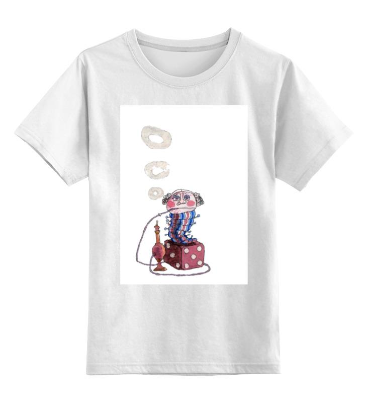 Детская футболка классическая унисекс Printio Странная гусеница курит кальян