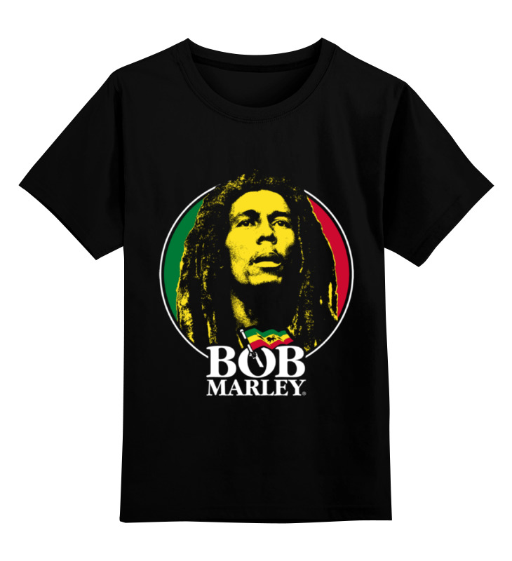 Детская футболка классическая унисекс Printio Bob marley