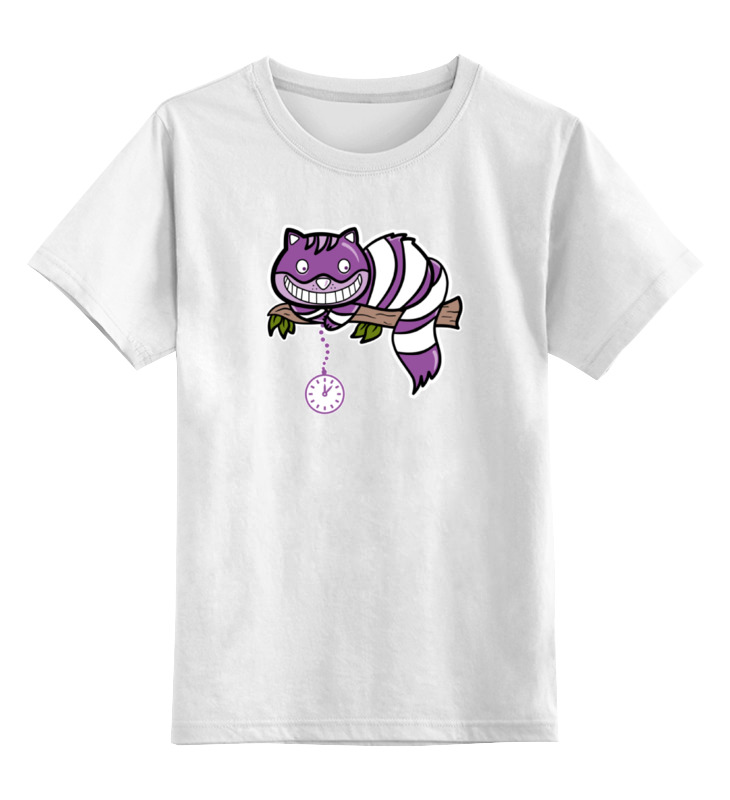Детская футболка классическая унисекс Printio Чеширский кот майка классическая printio чеширский кот алиса в стране чудес
